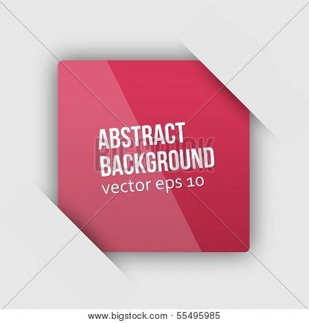 Vector abstract background. Square and 3d