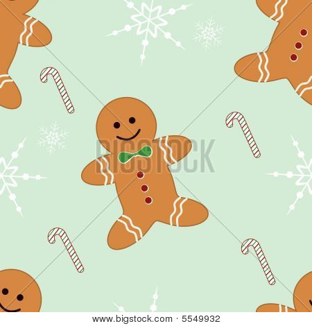 Seamless gingerbread and candycane