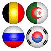 Постер, плакат: soccer balls