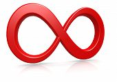 foto of infinity  - Red infinity  image with hi - JPG