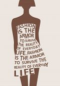 pic of boutique  - Silhouette of fashion woman in dress from words - JPG