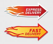 image of food logo  - Express and Fast Delivery symbols - JPG