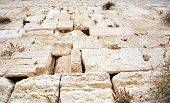 stock photo of rabbi  - The holy Western Wall in Jerusalem - JPG