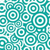stock photo of hypnotizing  - Black and white hypnotic seamless pattern background - JPG