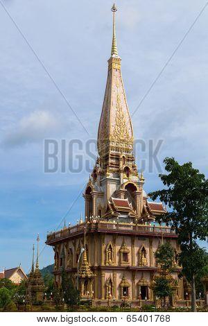 Holy Pagoda At Chalong Temple, Phuket, Thailand
