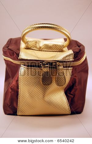 Rust And Gold Cosmetics Bag