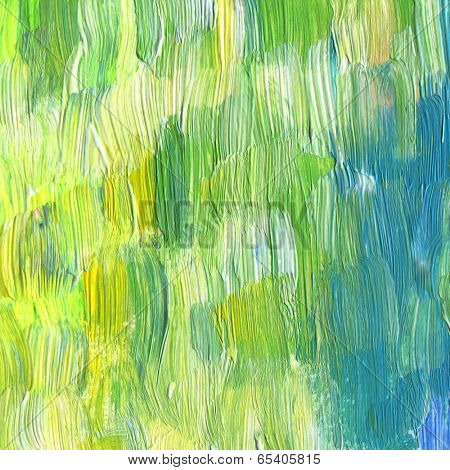 Abstract textured acrylic and watercolor hand painted background. Impressionism style.