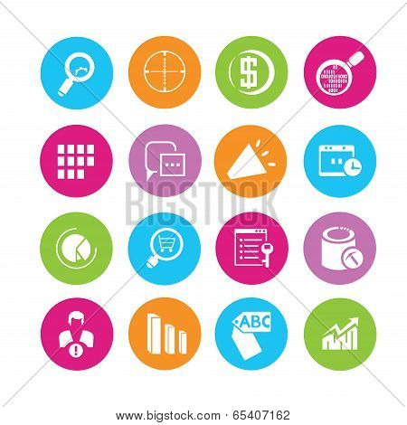 data analytics and web icons