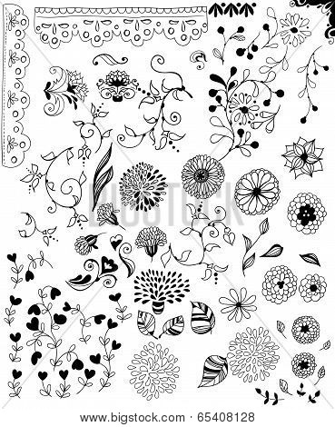 Hand -drawn Decorative Elements For Design