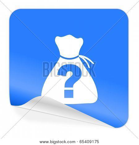 riddle blue sticker icon