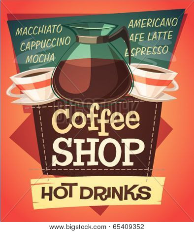 Coffee background \ poster \ card. Vector image