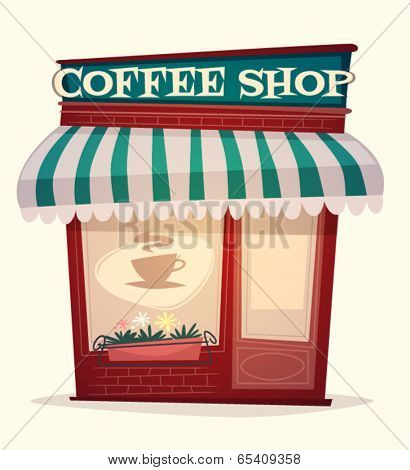 Coffee shop house. Vector image