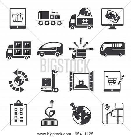 logistic and cargo icons