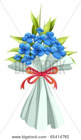 Illustration of a boquet of flowers on a white background