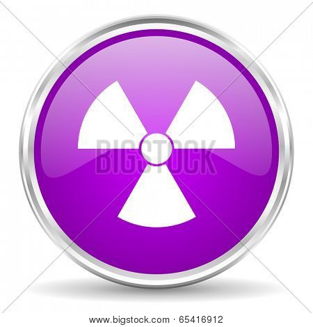 radiation pink glossy icon