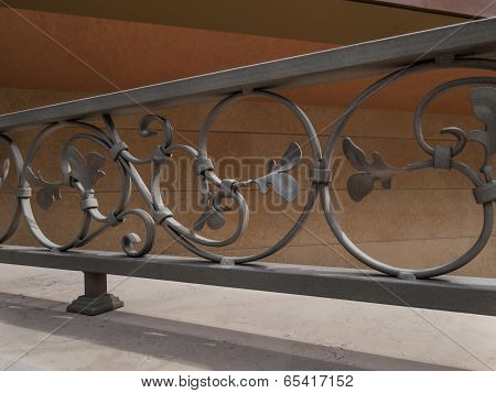 Detail Of Decorative Metal Fence