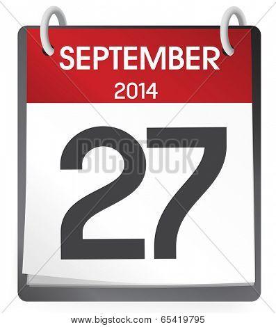 Twenty Seventh September 2014.