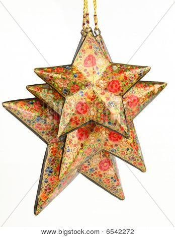 Three red colored stars