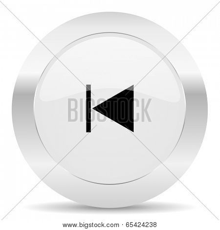 prev silver glossy web icon