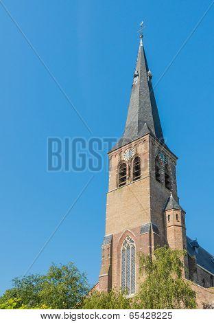 Tower Of An Historic Dutch Church