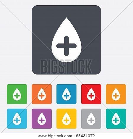 Water drop sign icon. Softens water symbol.