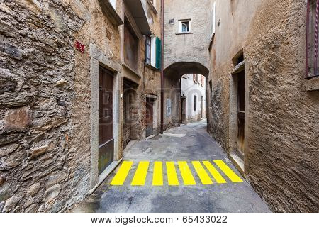 concept, crosswalks in the alley