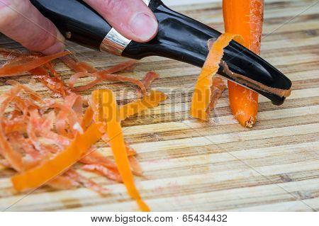 Peeling A Carrot