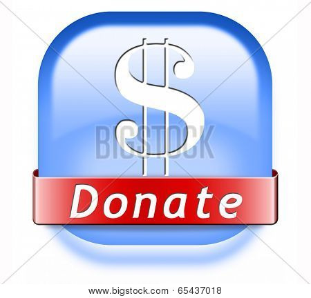 donate button and give to charity help fund raising give and raise money donation