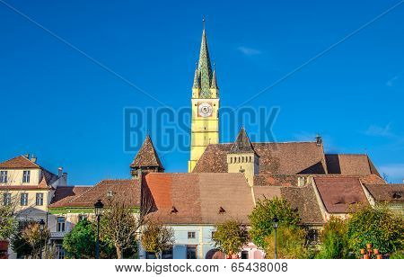 Medieval fortified church of Medias