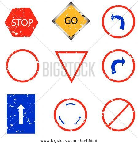 Traffic Sign Stamp