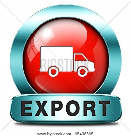 export icon international trade logistics freight transportation world economy exportation of products