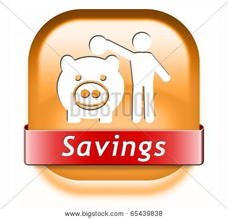 savings money saving in piggy bank deposit account with plan to save cash online banking