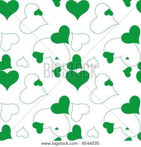 Heart Green Pattern