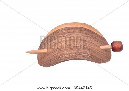 wooden barrette