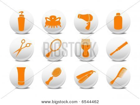 Buttons Set For Hairdressing Salo