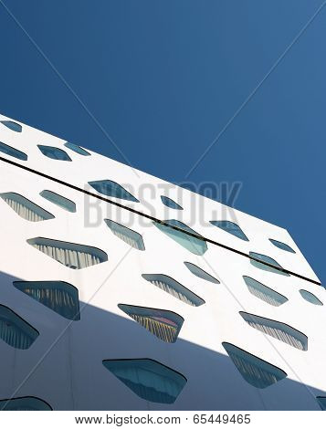 GINZA, JAPAN - NOV 26 : Abstract Void of Conceptual modern building in Ginza area