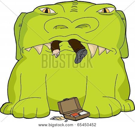 Monster Eating Businessman