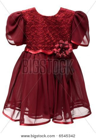 Natty Crimson Baby Gown
