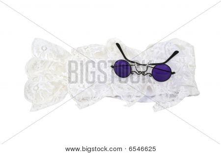 Purple Glasses And Jabot