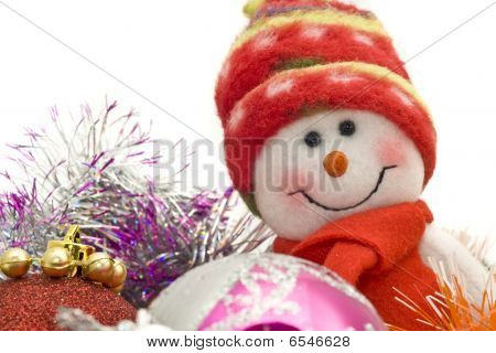 Christmas Greetings - Funny White Snowman