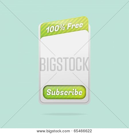 Free Subscription Template Vector Illustration