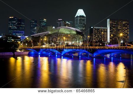 Esplanade Theatres On The Bay At Night