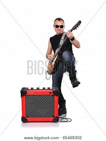 Rocker With Electrical Guitar