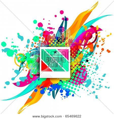 Advertising and promotion vector background for business poster.