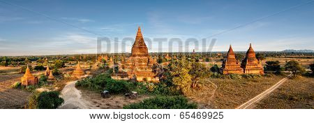 Buddhist Temples at Bagan Kingdom. Myanmar (Burma)