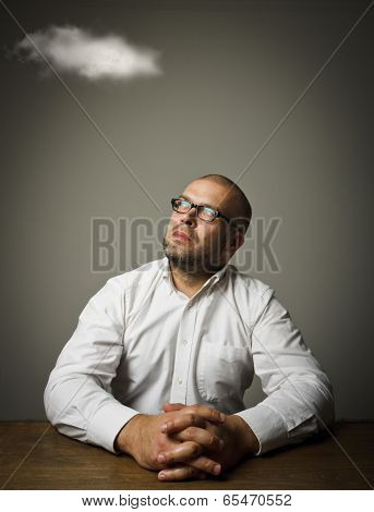 Man In White And Cloud.