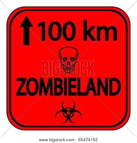 Road Sign Zombieland