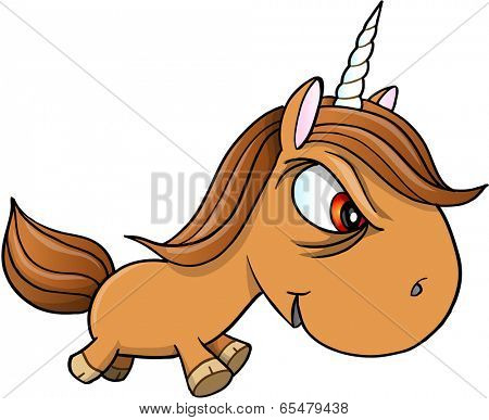 Tough Bad Unicorn Vector Illustration Art