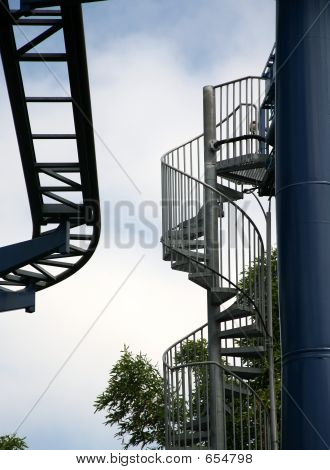 Rollercoaster Track And Stairs