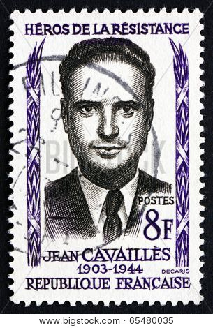 Postage Stamp France 1958 Jean Cavailles, Hero